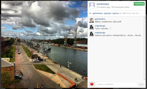 Mārtiņa Rozes pēdējā Instagramma