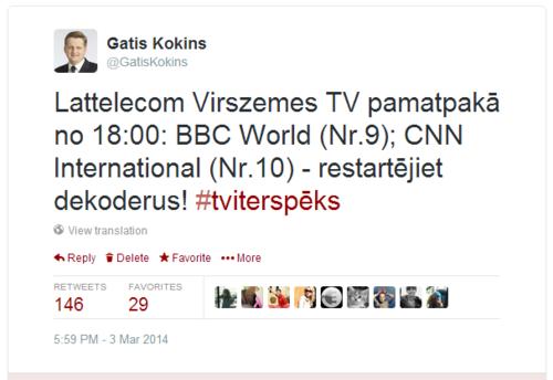 GK Tvīts par VTV