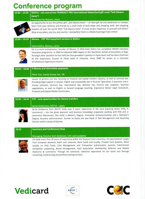 Payment Card Conference program_Gatis Kokins 5-Nov-2105