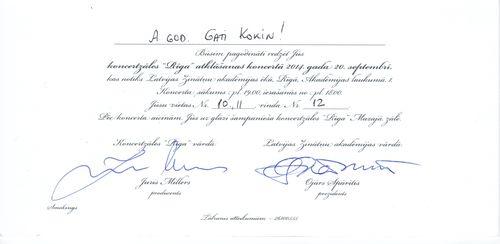 Ielūgums uz koncertzāles Rīga atklāšanu 20-Sep-2014