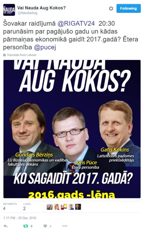 GK Gundars Bērziņš Vai nauda aug kokos 29-Dec-2016 Twitter