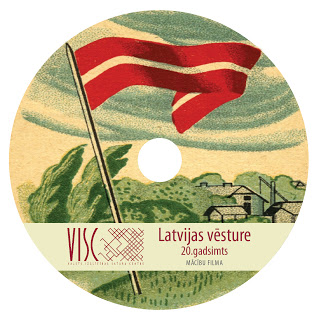 Latvijas vēsture_20. gadsimts DVD diska apdruka