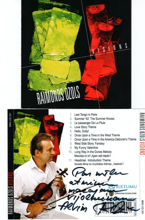 CD  Raimond Ozols Vision cover autograph ASK