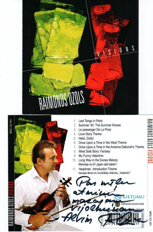 CD  Raimond Ozols Vision cover autograph ASK